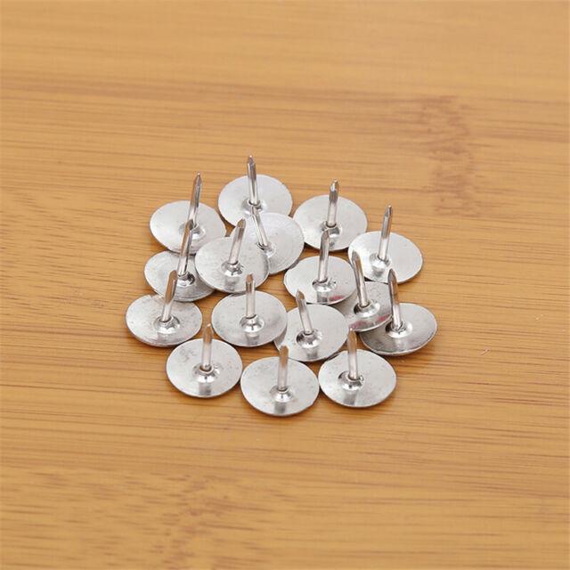 High 40 Pcs Transparent Push Pins Notice Board Map Thumb Tacks Point BulletiNFEH