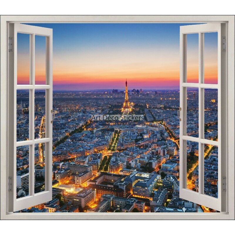 Aufkleber Fenster Schein Auge Paris Eiffelturm Ref 5456 5456