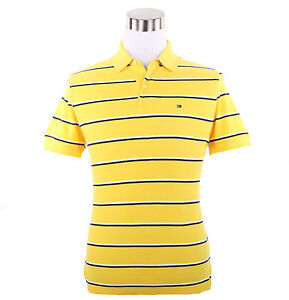 Tommy-Hilfiger-Men-Short-Sleeve-Custom-Fit-Stripe-Pique-Polo-Shirt-0-Free-Ship
