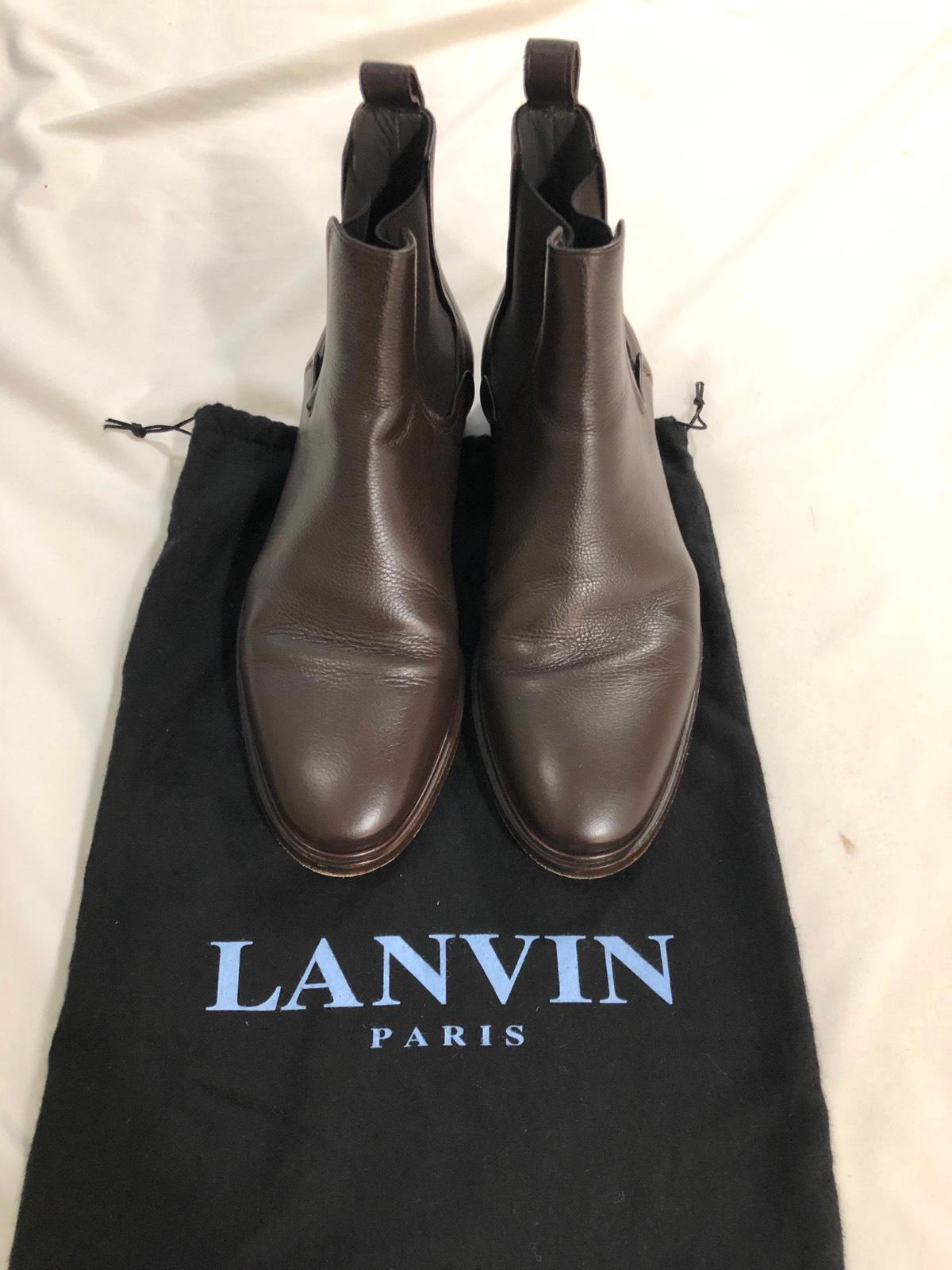 alla moda Lanvin Grained Leather Chelsea avvio US 8, EU 41 41 41 RRP  1025  basso prezzo del 40%