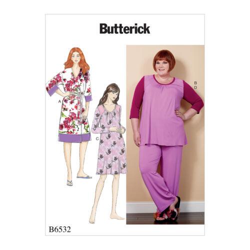 Butterick 6532 sewing pattern pour faire robe pyjama /& chemise de nuit tailles plus