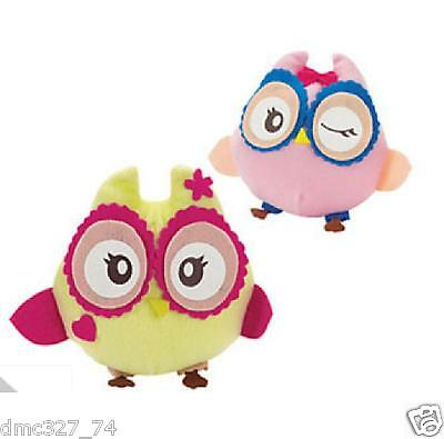 """12 Girls Birthday Party Favors OWL YOU'RE A HOOT PLUSH OWLS 6"""""""
