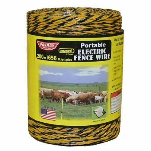 Baygard 00121 Electric Fence Yellow//Black Wire Feet 656