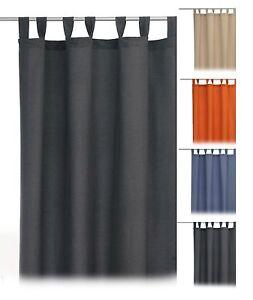 Dekoschal-mit-Schlaufen-Gardine-hochwertiger-Vorhang-140x245-cm-Farbe-waehlbar