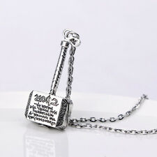 Marvel Thor Hammer Pendant Necklace like  Avengers, Unique Gift for HIM for MEN