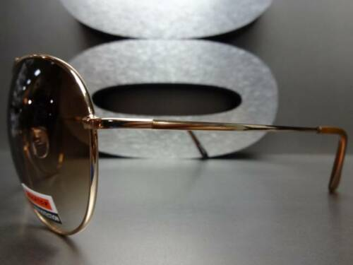 Men or Women CLASSIC VINTAGE RETRO Style SUNGLASSES SHADES Large Gold Wire Frame