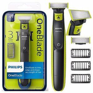 Philips-afeitadora-electrica-Trimmer-Styler-una-hoja-3x-Peines-Wet-amp-Dry-QP2520-25