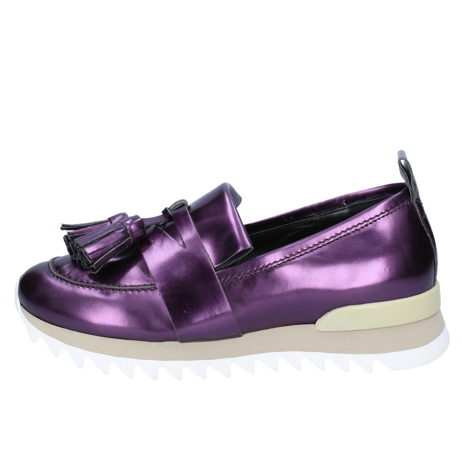 Chaussures Femmes My gris mer 39 basses violet cuir bx37-39