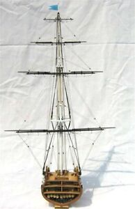 1-75-Sail-boat-model-kit-USS-Constitution-Section-1794-wooden-ship-Old-Ironsides