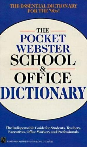 Pocket Webster School and Office Dictionary [ Webster's New World ] Used - Good