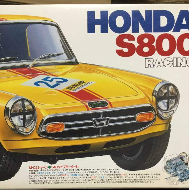 Tamiya M02 1 10 electric radio controlled car Honda S800 1996 made From JAPAN