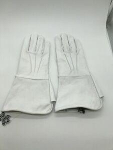 Men-039-s-Civil-War-White-Unlined-Leather-Gauntlets-Artillery-Cavalry-Infantry
