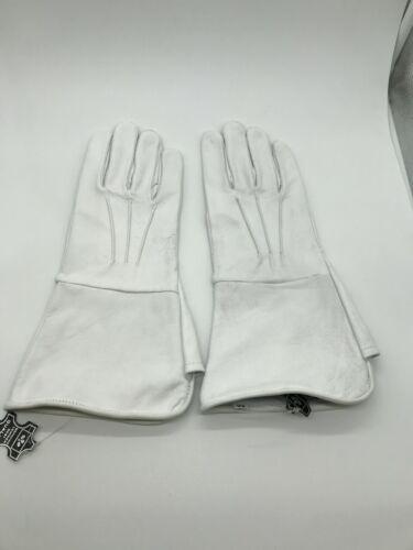 Men/'s Civil War White Unlined Leather Gauntlets Artillery//Cavalry//Infantry