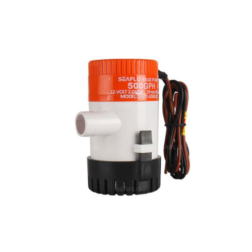 SEAFLO 12v 500GPH SUBMERSIBLE MARINE BILGE PUMPS with AUTO FLOAT SWITCH rohs iso
