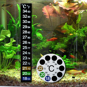 6 Pcs Fish Tank Aquarium Temperature meter 13cm Adhesive Sticky Digital Sticker