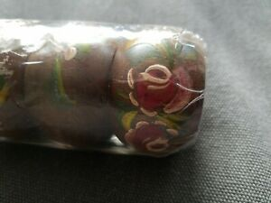 Vintage-Wooden-Napkin-Rings-Hand-Painted-Floral-6