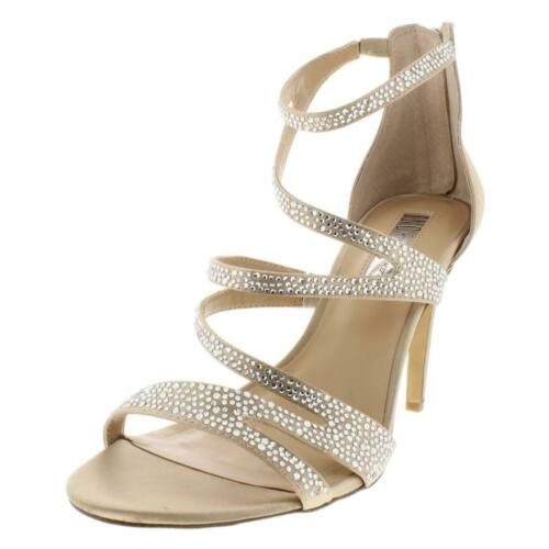 INC Womens Regann 2 Synthetic Metallic Open Toe Strappy Sandals Shoes BHFO 6756
