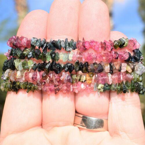 "Details about  /Rainbow Tourmaline Jewelry Set 18/"" Necklace 2/"" Earrings 7/"" Bracelet"