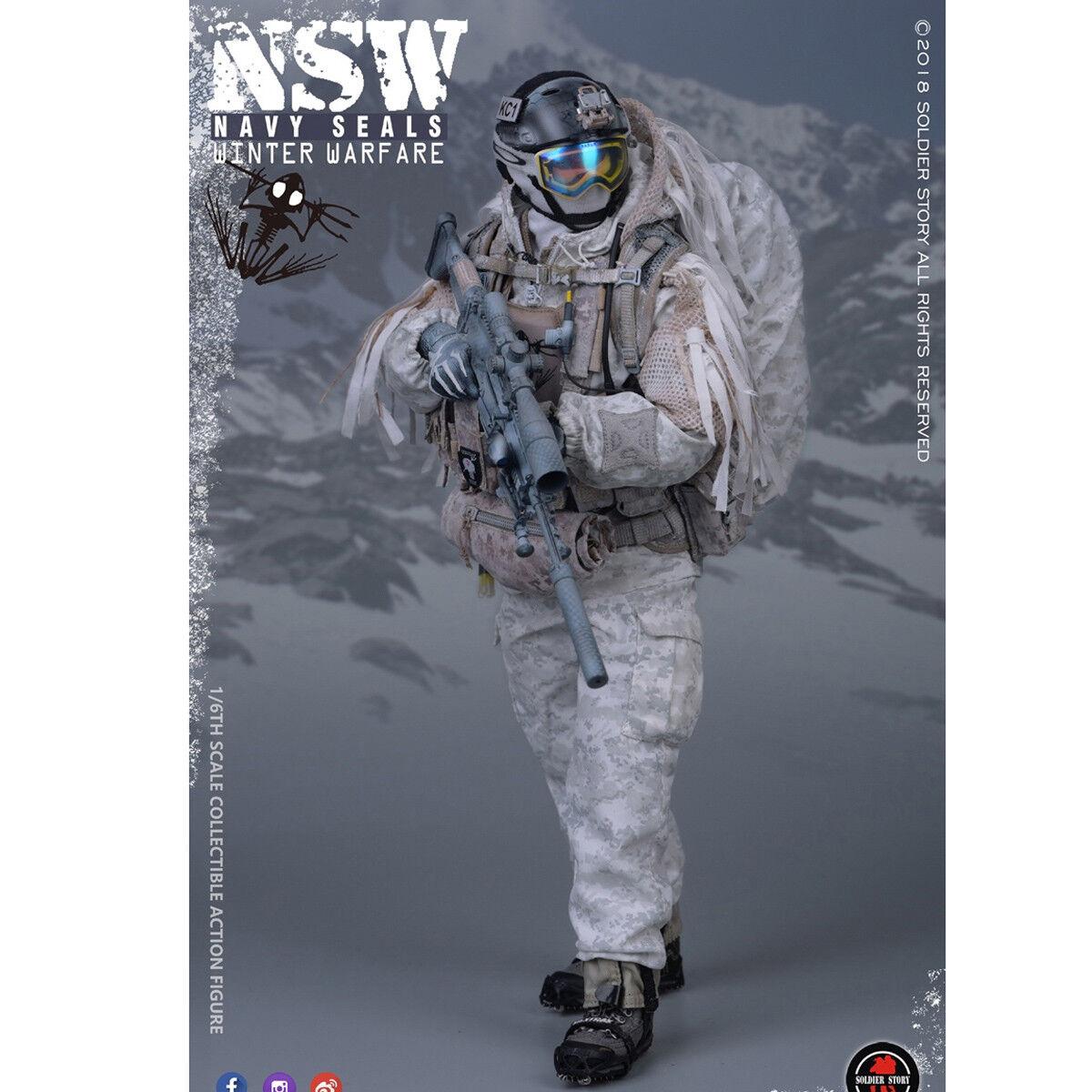 colores increíbles Soldierstory SS109 1 6 NSW Guerra de Invierno Invierno Invierno  Tirador  Navy Seals Macho Coleccionable  mejor calidad
