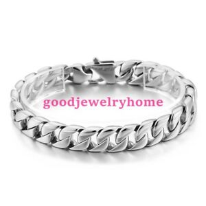 Image Is Loading Mens Womens Silver Jewelry 316l Stainless Steel Cuban