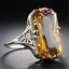 Fashion-Women-925-Sliver-Ring-Citrine-Natural-Party-Wedding-Engagement-6-9-Gift thumbnail 2
