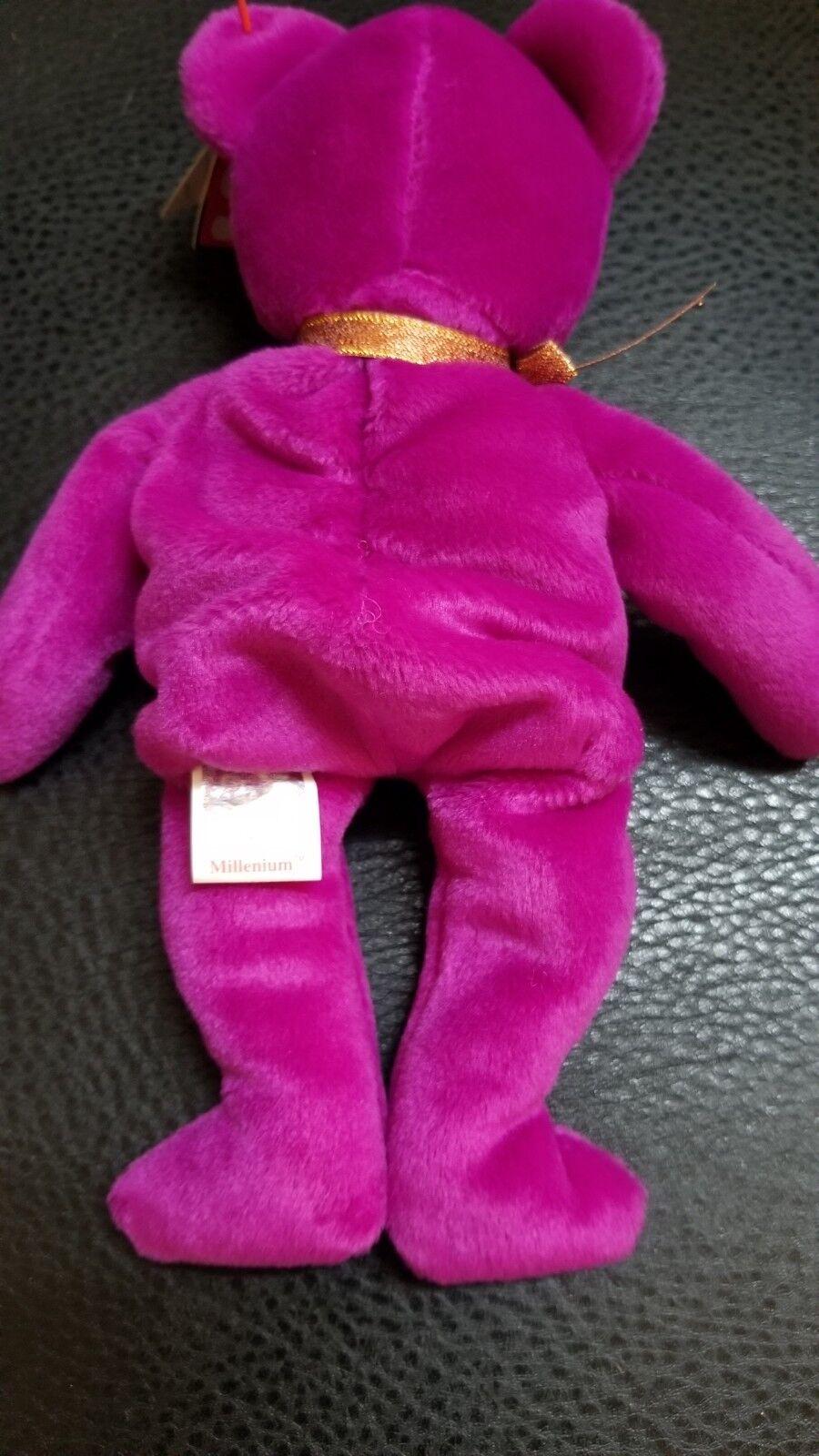 ... Authenticated Rare 1991 TY Beanie Baby - MILLENNIUM the Bear Bear the w  errors 0ab339 ... ab0782eddab5