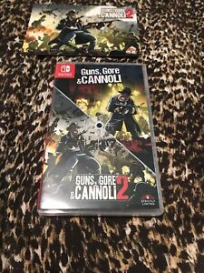 Guns Gore Cannoli 1 & 2 Nintendo Switch SLG Strictly Limited Games /2500 In Hand