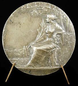 Medaille-a-L-Leblond-Allegorie-syndicat-commerce-amp-industrie-Baudichon-medal