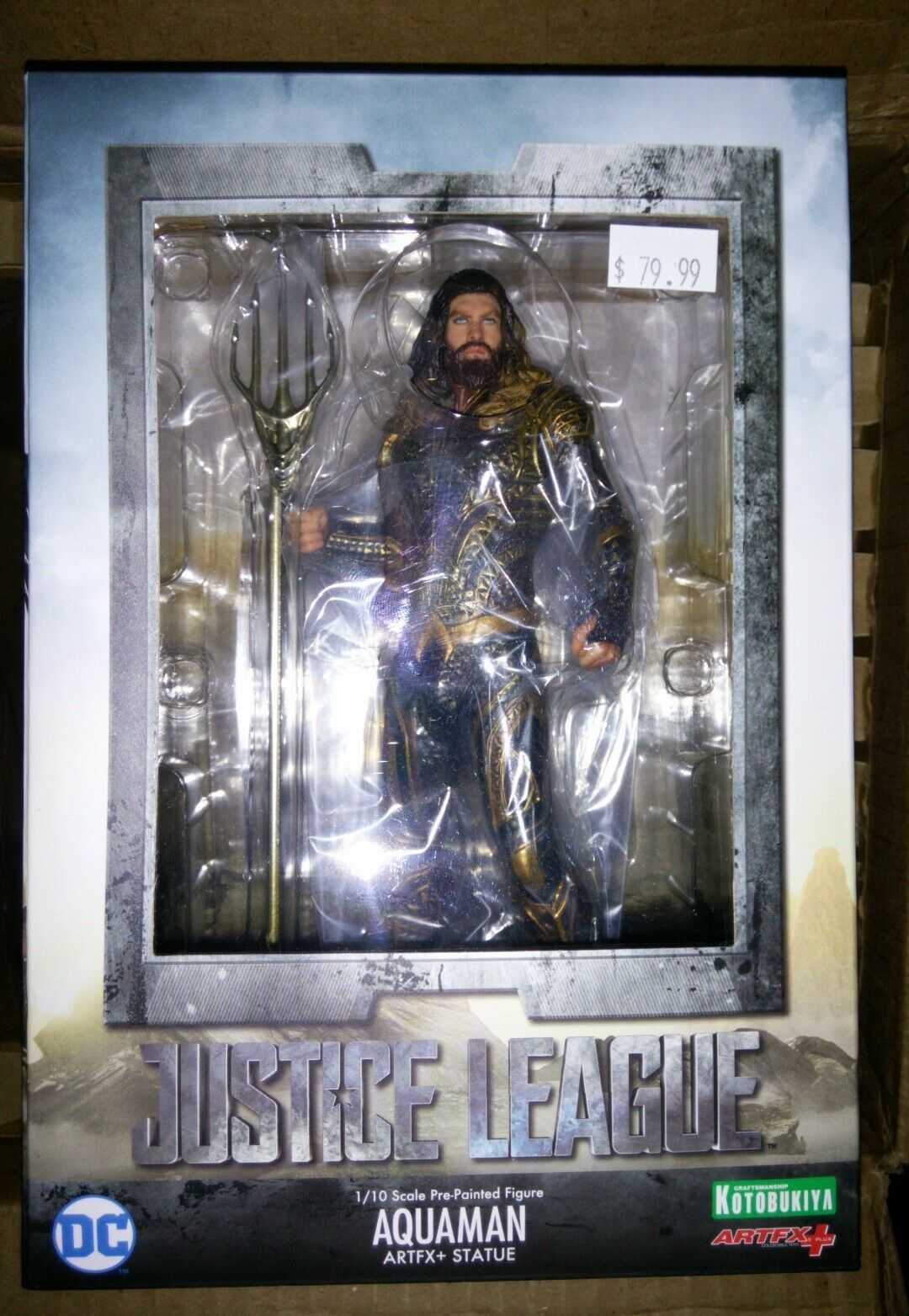 DC Comic's ArtFX+ Statues - Justice League Movie - 1/10 Scale Aquaman Kotobukiya
