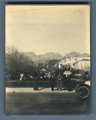 Romantisch France, Menton, Scène De Rue Vintage Silver Print. Vintage France Tirage Arge Om Geavanceerde Technologie Te Adopteren