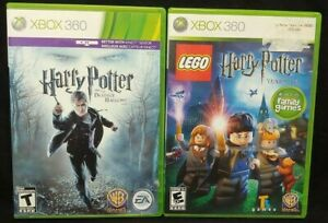 Lego Harry Potter + Deathly Hallows 1  XBOX 360 2 GAME Lot Tested + Complete