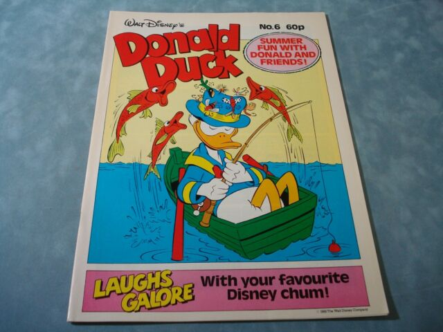 VINTAGE DISNEY'S DONALD DUCK NO. 6  BY LONDON EDITIONS MAGAZINES VERY RARE COMIC