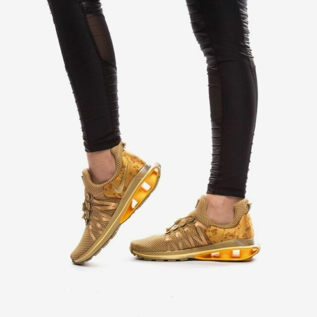 brand new b4fe5 49893 Nike Shox Gravity Women's Shoe Aq8554 700 Metallic Gold WMN Sz 6