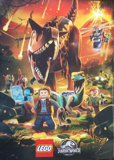 Uk Lego Jurassic Park World The Fallen Kingdom 2018 Promo Movie Poster New For Sale Online