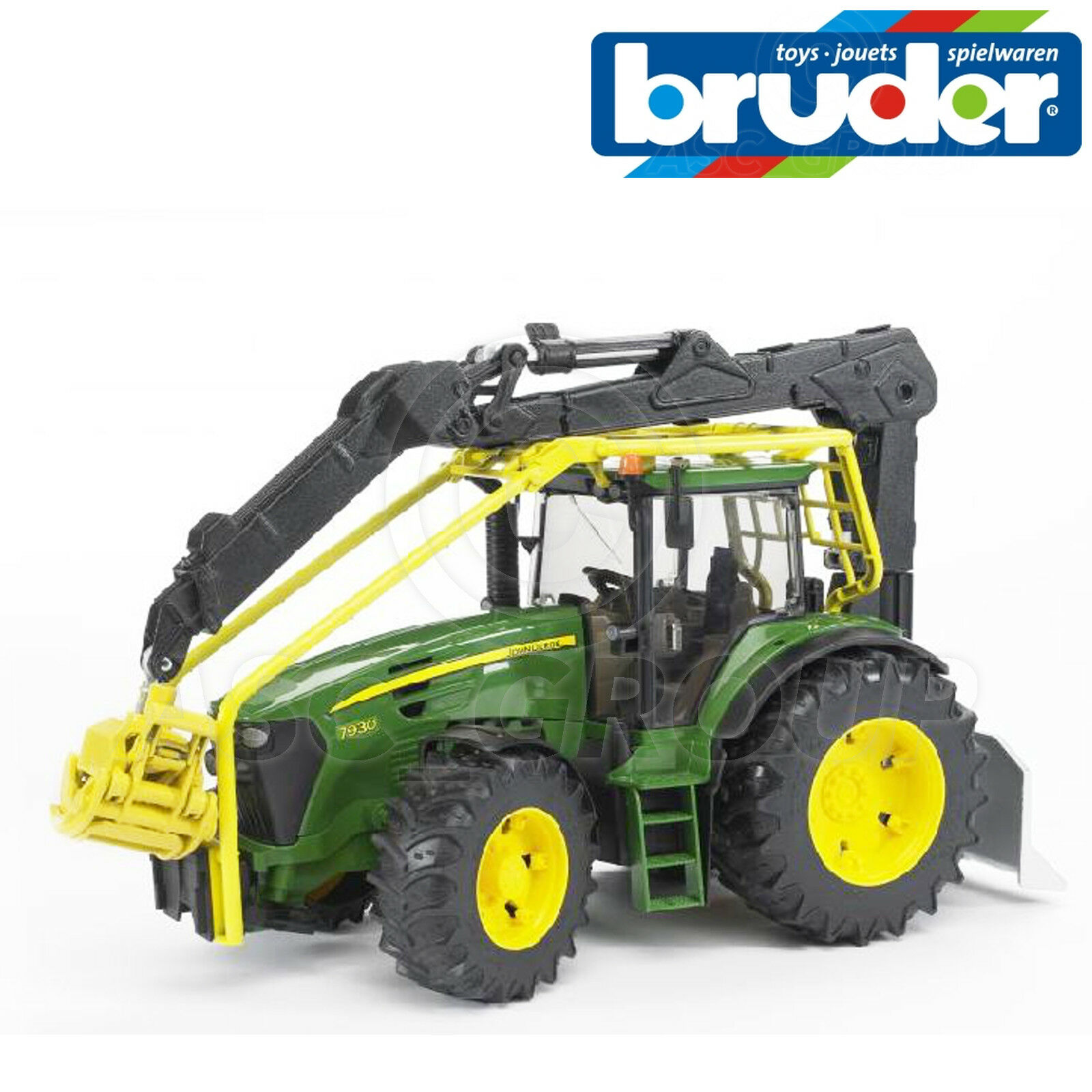 Bruder Toys 03053 ProSeries John Deere 7930 FORESTRY TRACTOR with Rear Grab 1 16