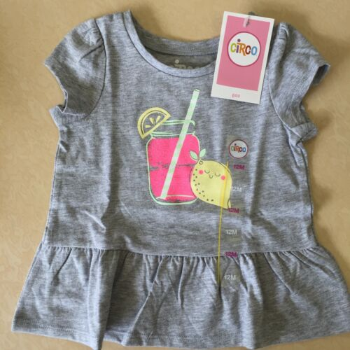 Circo Toddler Girls/' Tee Shirt NEW Heather Grey