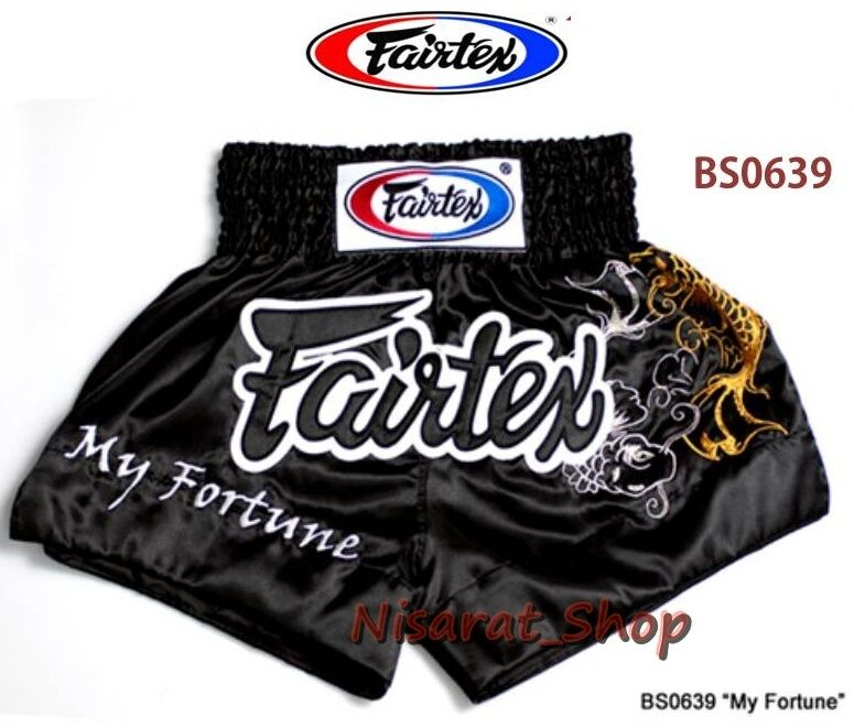 FAIRTEX BOXING SHORTS BS0639  S M L XL MY FORTUNE SATIN GENUINE MMA MUAY THAI