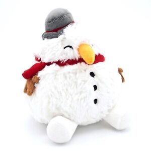 HOLIDAY-SQUISHABLE-MINI-SNOWMAN-RETIRED-STUFFED-ANIMAL-7-034-NEW-WITH-TAGS