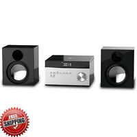 Stereo Home System Compact Audio Cd Player Micro Am/fm Radio Mp3 Remote Control