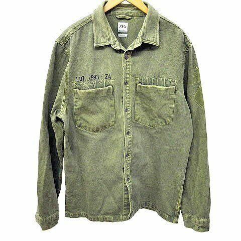 ZARA MAN Oversized Shirt Blouson Overdying Militar