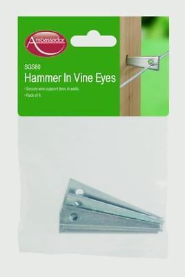 "HAMMER IN WIRE PLANT ROSE CLIMBING TRAINING WIRE VINE EYES 3/"" 4/"" 5/"" 6/"" ZINC"