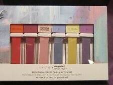 NIB SEPHORA + PANTONE UNIVERSE LIMITED EDITION MODERN WATERCOLOR 6 LIP GLOSS SET