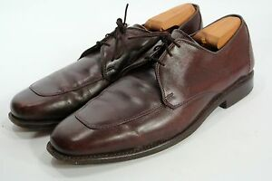 ALLEN EDMONDS Burton Mens Apron Toe Oxford Shoes Brown Leather 10 D