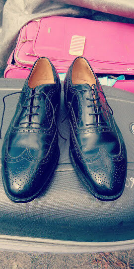 JOHNSTON AND MURPHY ARISTOCRAFT GREENWICH WING TIP BROGUE SHOES size 13EEE