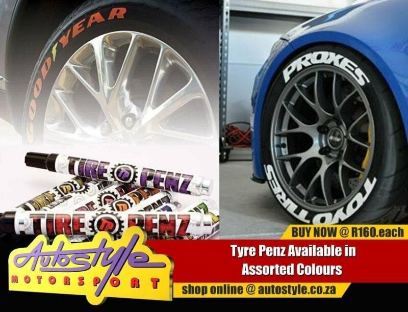 Tire Penz Tyre Paint assorted colors including white, red, green, orange, yellow etc