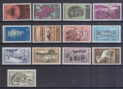 202-214 Freimarken Fremdenverkehr Briefmarken Kraftvoll Zypern 1962 Postfrisch Minr