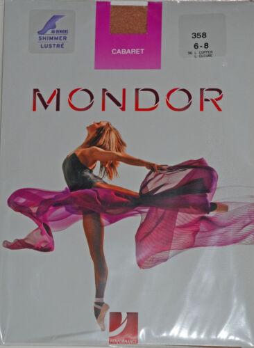 Mondor 358 Cabaret Shimmer Footed Dance Tights Sand or Light Copper 40 Den