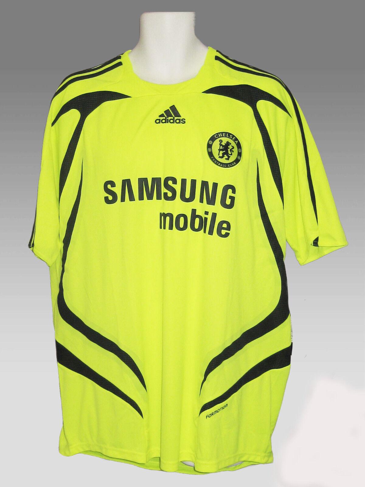 NW Adidas Vintage Chelsea TShirt Calcio Ufficiale Formotion Giallo SManica XL