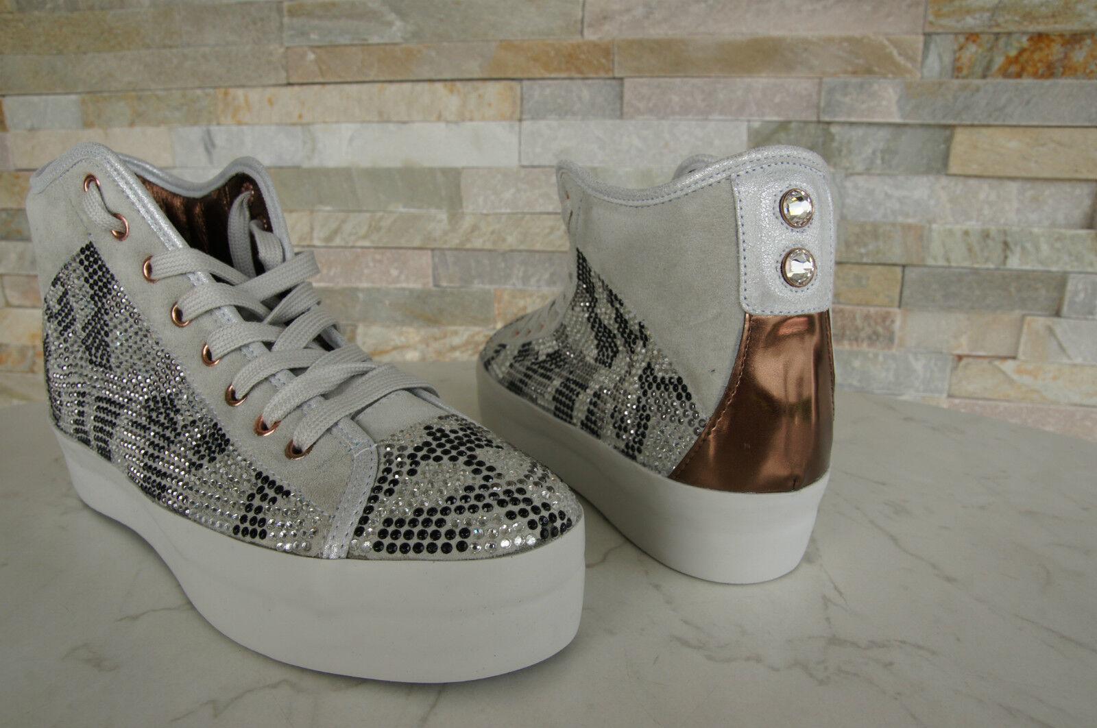 Alexander Smith London Gr 40 High-Top Glitter Sneaker Glitter High-Top Schuhe Schuhes neu a1ec42