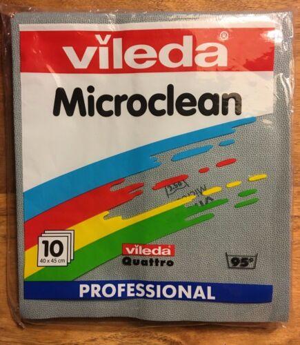 Vileda microclean professional Tücher Wischtuch Haushaltstücher 10 Stk OVP grau